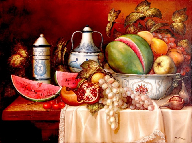 Still Life 2002 30x40 by Hector Martinez