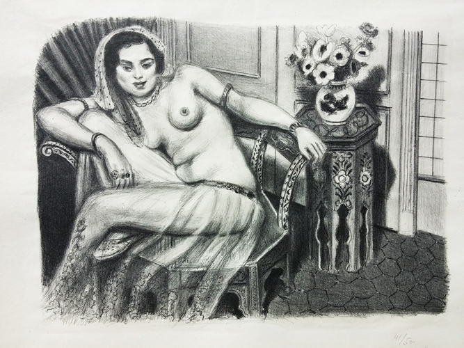 Odalisque in a Tuille Skir 1929 by Henri Matisse