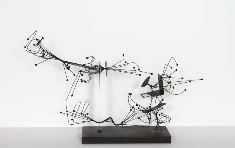 Design of Intention Steel/ Wire Sculpture 1975