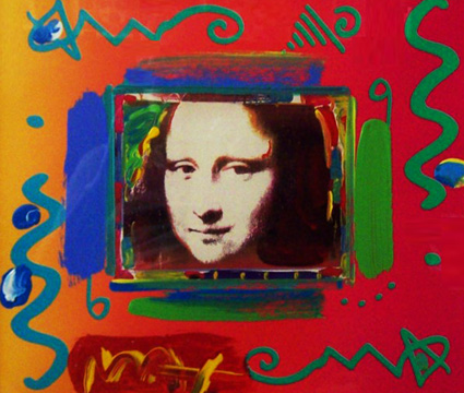 Mona Lisa Collage II Unique 1997 by Peter Max
