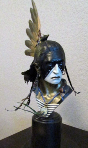 Crow King Study Bronze Sculpture 1996