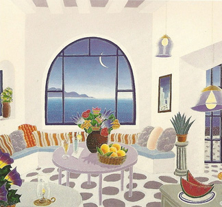 Mykonos II Suite of Ten Lithographs