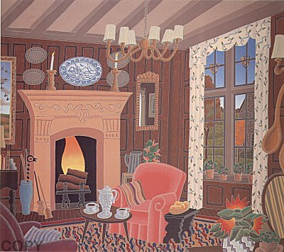 England, Suite of 7 Serigraphs 1986