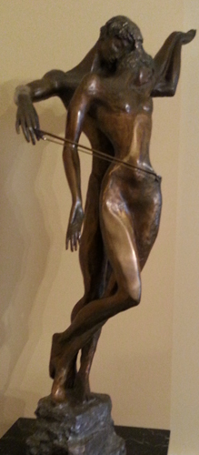 Cello Player Bronze Sculpture