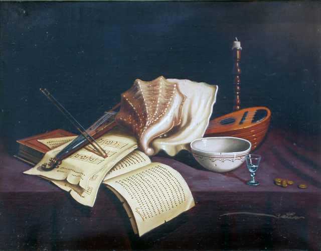 Still Lifes, Suite of 3 Paintings 1997