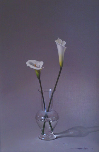 Two Lillies in Vase