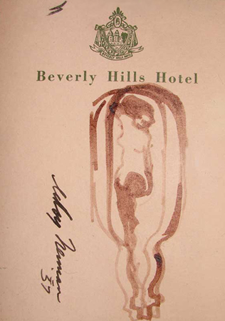 Beverly Hills Femlin in a Bottle  Drawing 1957