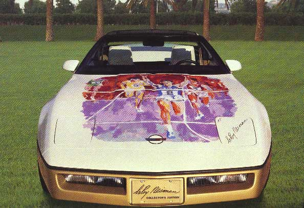 Corvette Hood Original Painting on 1984 Hood