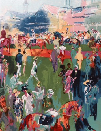 Derby Day Paddock by LeRoy Neiman