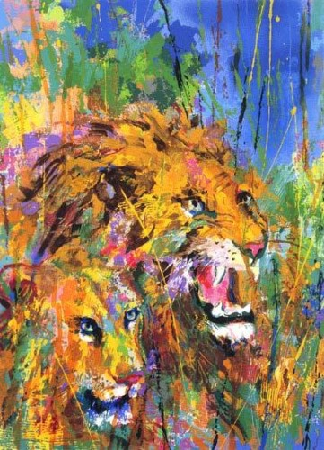 Safari, Suite of 3  1997 by LeRoy Neiman