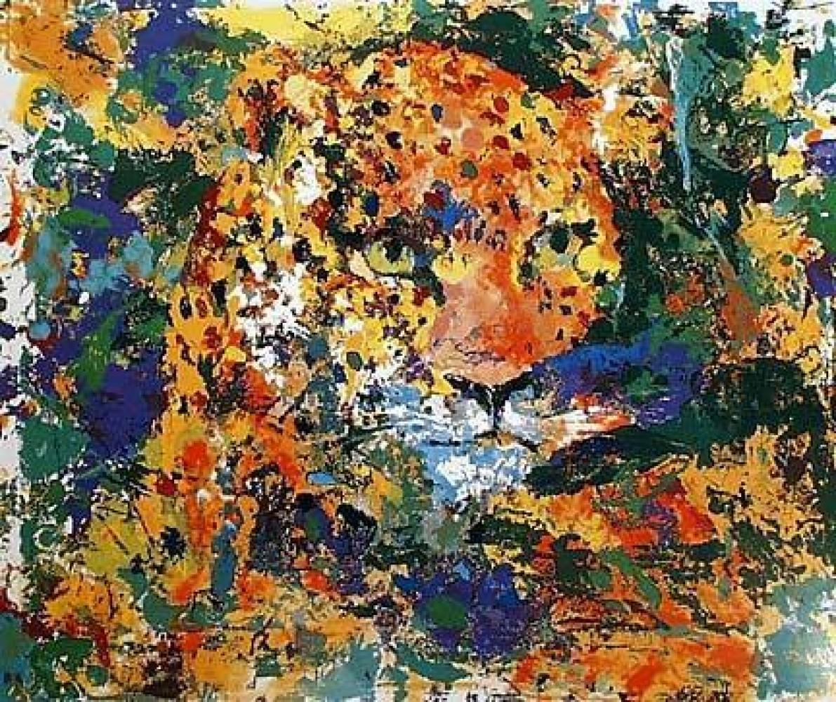Portrait of the Leopard 1997 by LeRoy Neiman