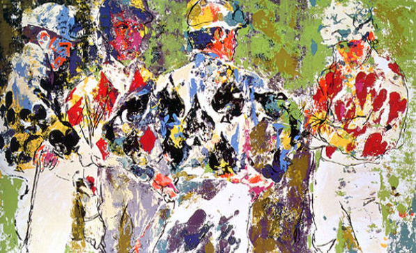 Four Jockeys AP 1974 by LeRoy Neiman