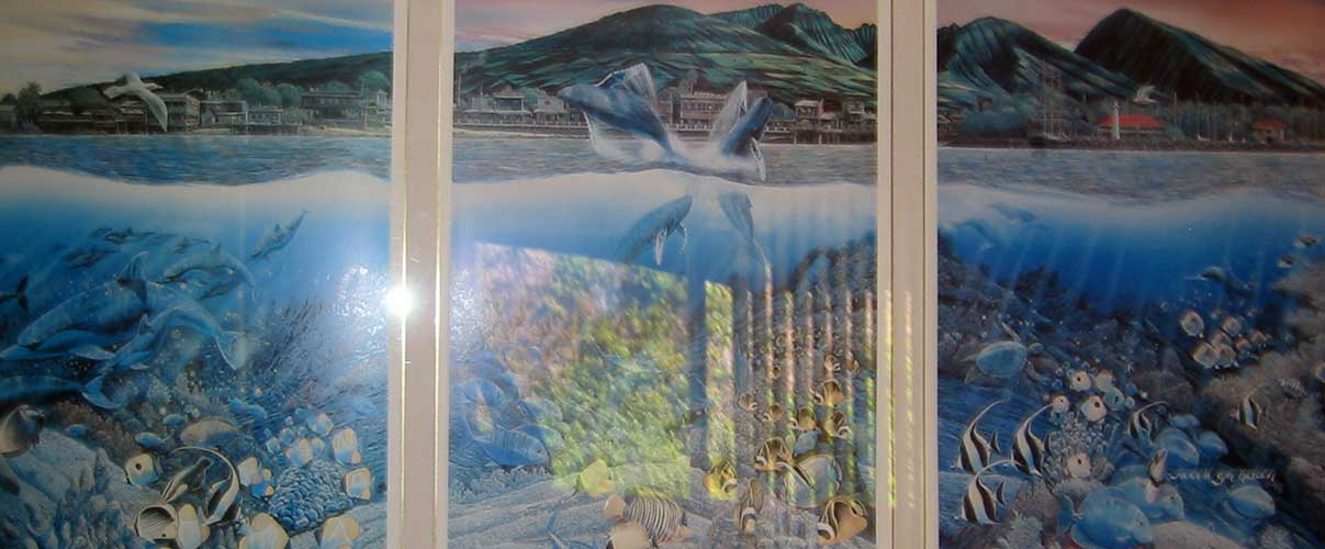 Lahaina Rhythm Land and Sea Triptych with Remarque