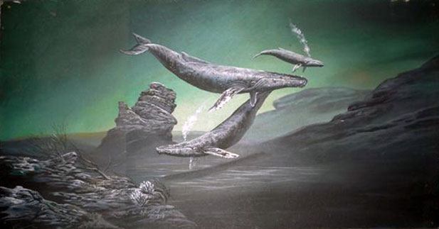 Untitled Whales Painting 1979