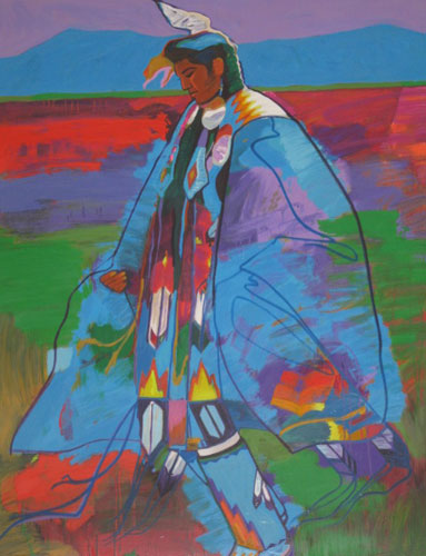 Dancer at Taos Pow Wow AP 1994