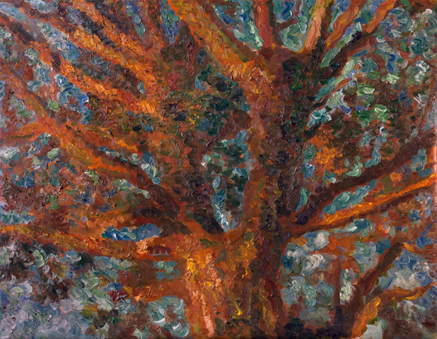 Tree 2010 41x52 by Robert Nizamov