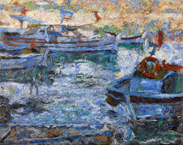 Boats 2010  42x52 by Robert Nizamov