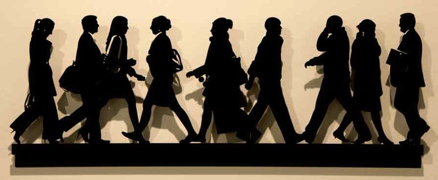 City Walkers #2 Steel Sculpture 2014 by Julian Opie