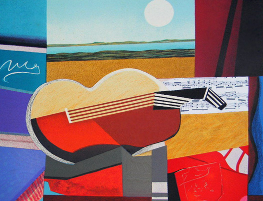 Guitare II  by Max Papart