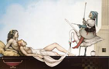 The Court Painter 2002 by Michael Parkes