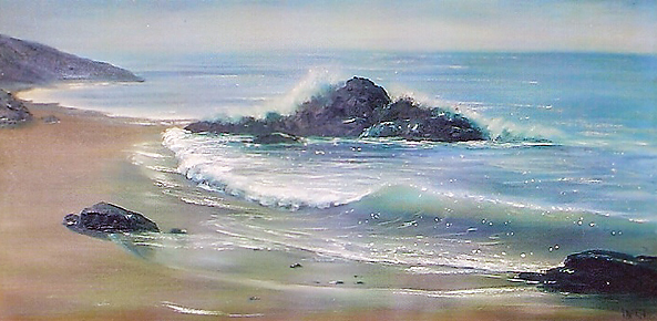 Untitled California Seascape with Beach 1960