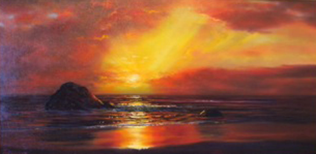 Untitled (Sunset Seascape)