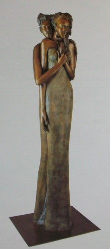 Whisper Lifesize Bronze Sculpture 2001