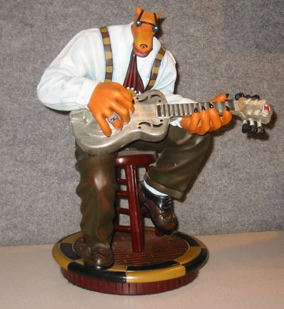 Bluesman Bronze Sculpture 1992