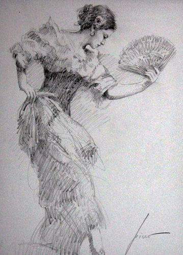 Flamenco Dancer Drawing 2010