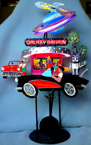 Galaxy Drive In Kinectic Steel Sculpture