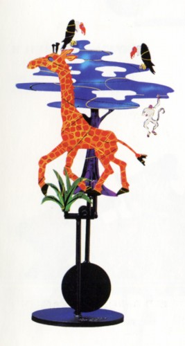 Giraffe Kinetic Sculpture 1994 by Frederick Prescott