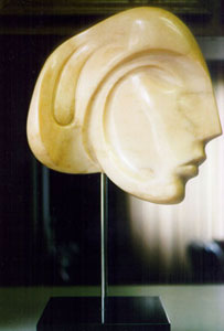 Viennese Beauty Pink Marble Sculpture 1984