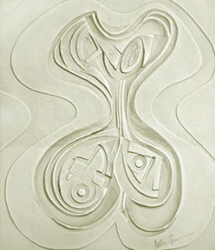 Odalisque Sculpture Cast Paper 1987 by Anthony Quinn