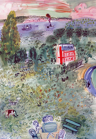 Normandie, Vintage Poster 1950 by Raoul Dufy