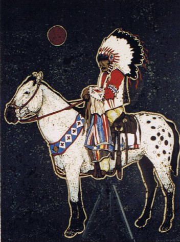 Brave on Horse 1982