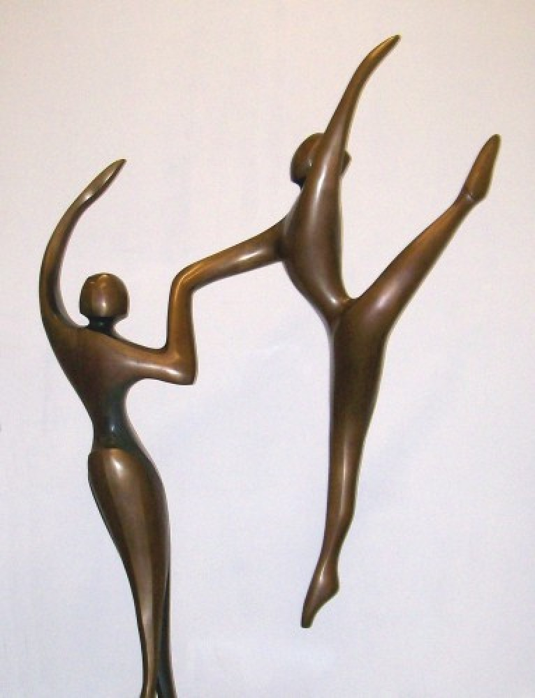 Ascending Dancers (Monumental) Bronze Sculpture 123 in high by Robert Holmes