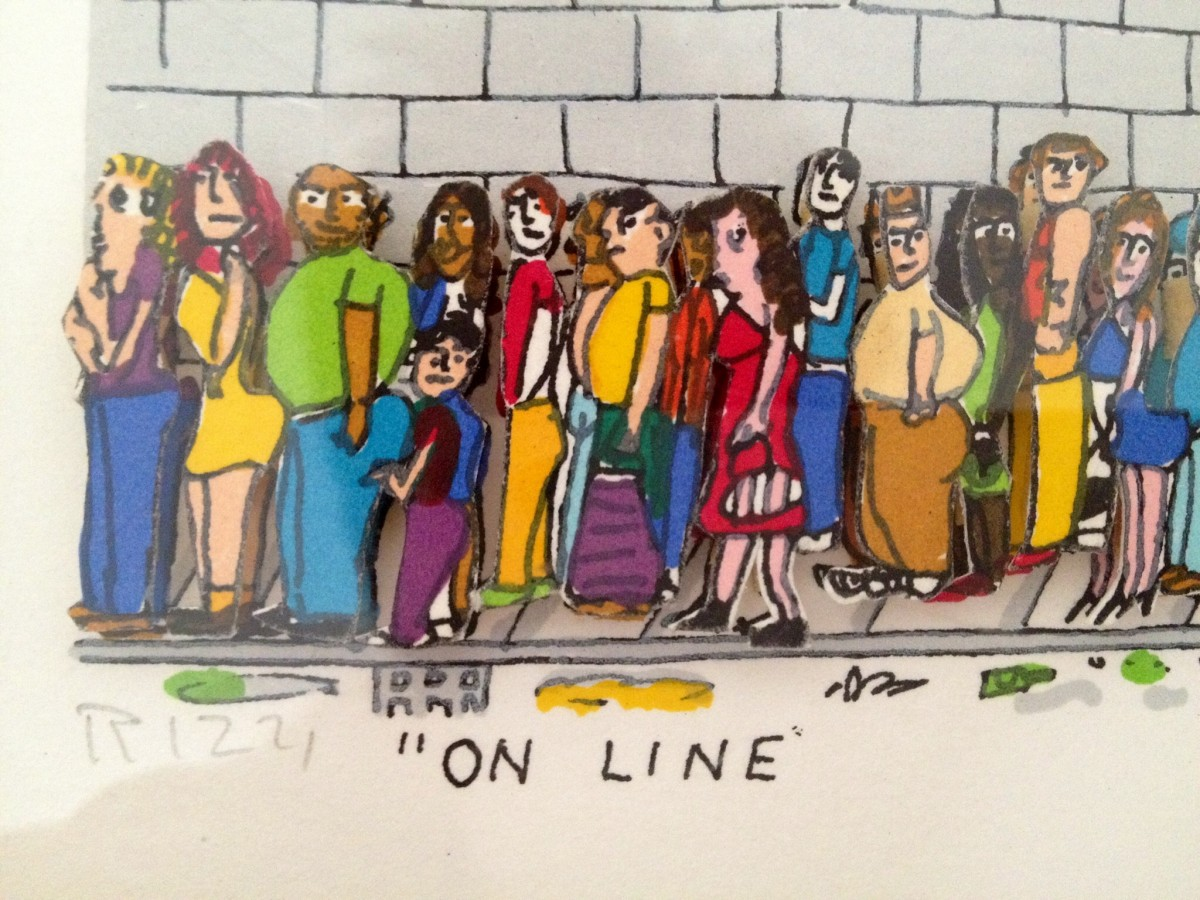 On Line, In Line, On Russia Triptych 3-D 1990