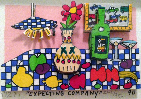 Expecting Company 3-D 1990 by James Rizzi