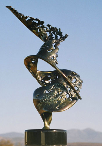 Floating Bronze Sculpture