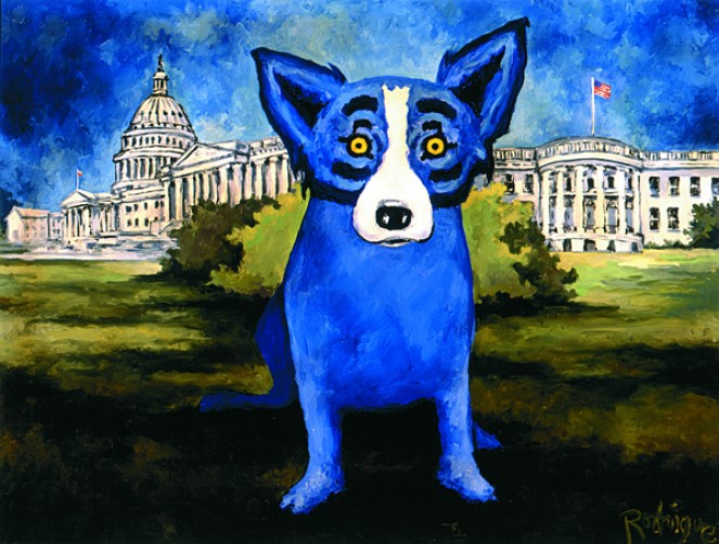 Washington Blue Dog 1993 (remarque)