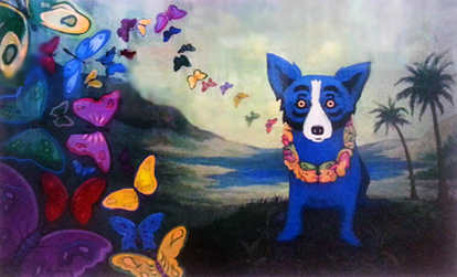 Hawaiian Blue Dog 1998