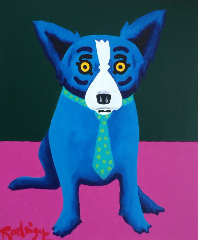 Life on Venus is Great 1999 by Blue Dog George Rodrigue