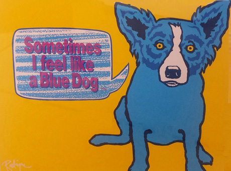 Sometimes I Feel Like a Blue Dog 1991 by Blue Dog George Rodrigue