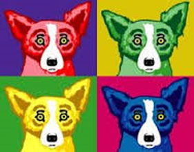 Four Tops 2003 by Blue Dog George Rodrigue
