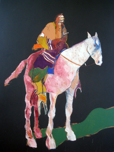 Indian on White Horse 1978