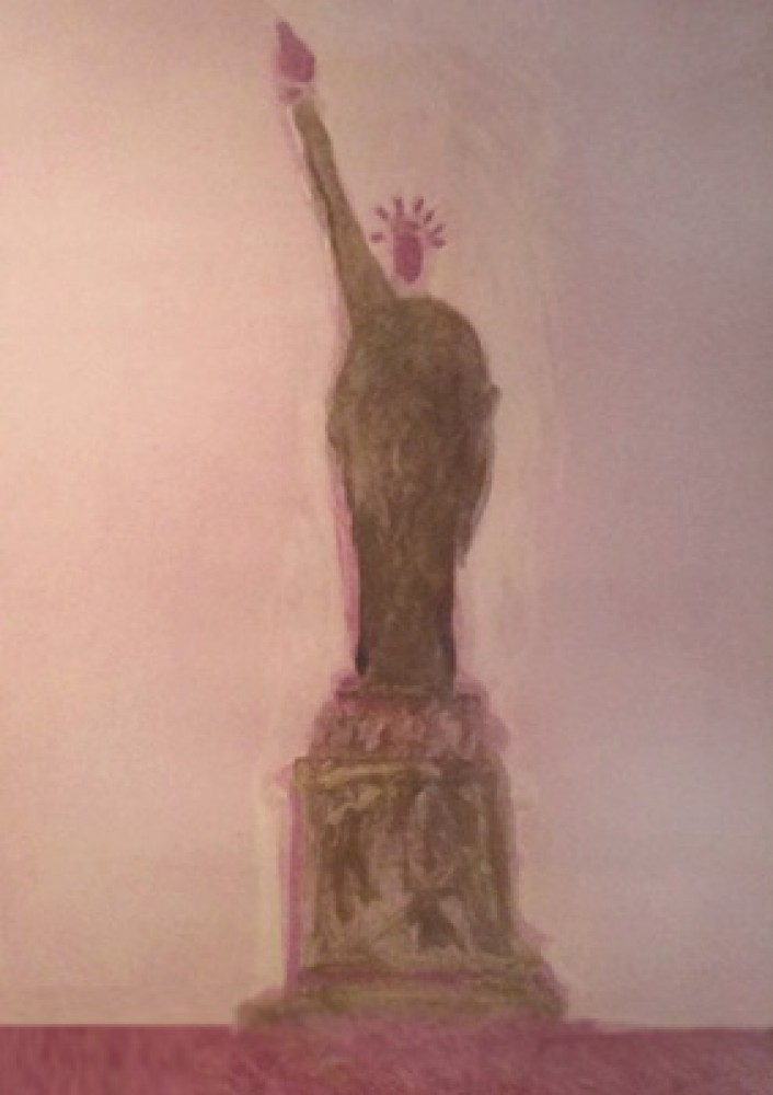 Statue of Liberty Monotype by Fritz Scholder