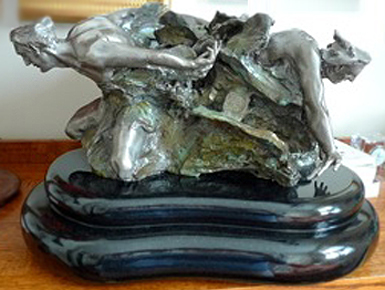 Cataclasis Study Bronze Sculpture 2003