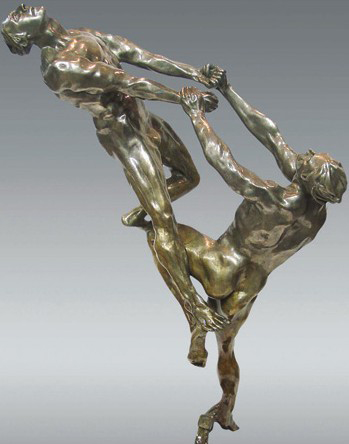 Gravity Bronze Sculpture 2000