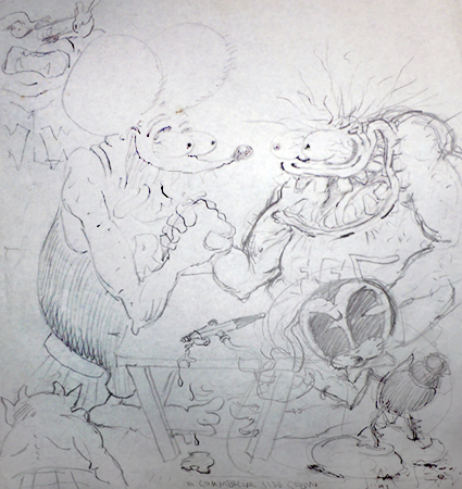 Rat Fink Meets Fred Flypogger Meets Cootchy Cooty 1991