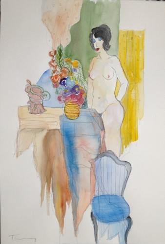Nude Watercolor 2009